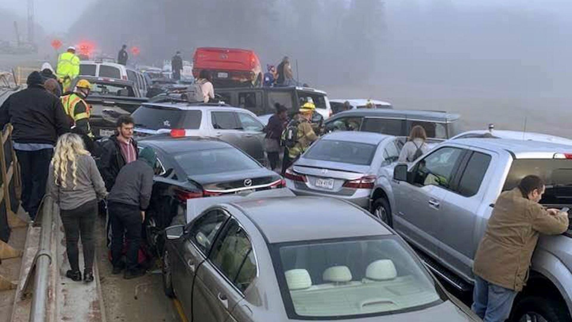 Верижна катастрофа с 63 автомобила и десетки ранени в САЩ (снимки+видео)