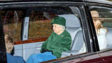 Кралицата отиде на църковната служба без принц Филип