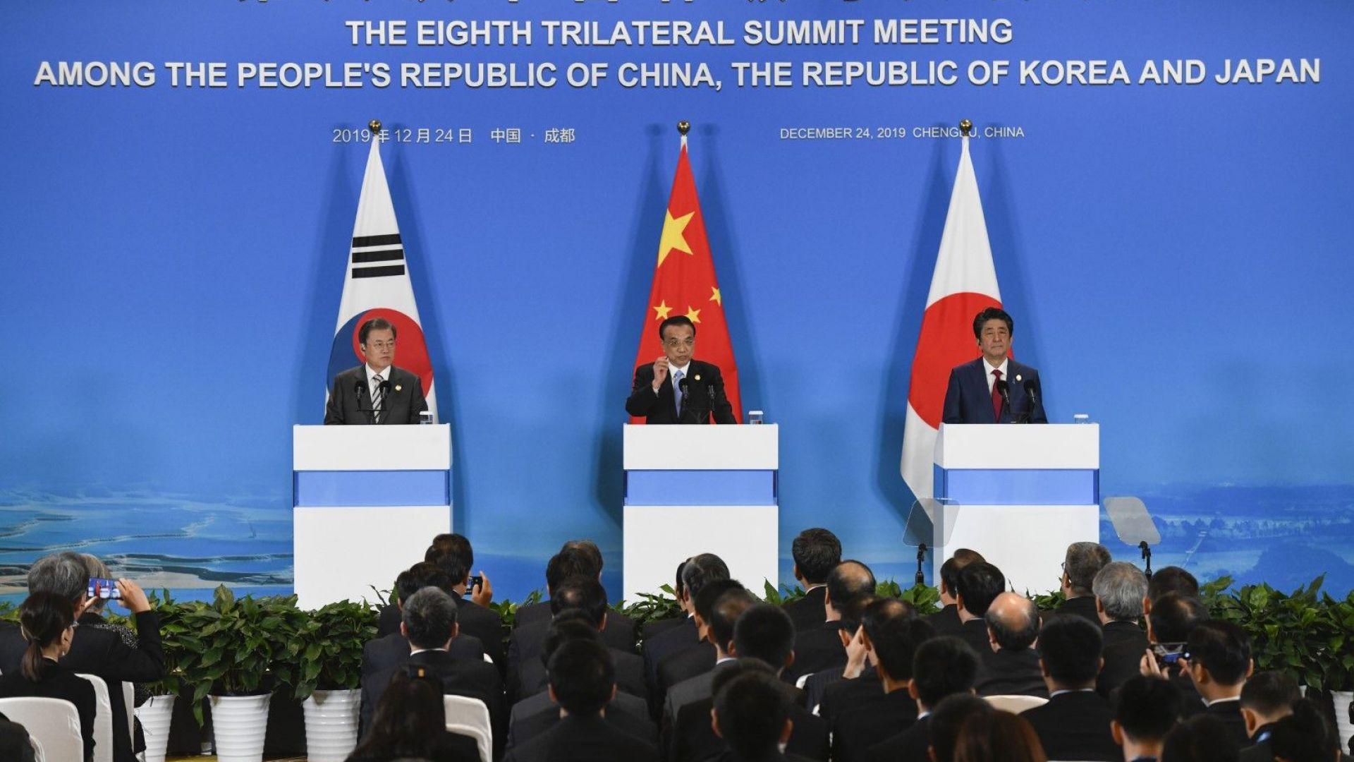 Китай, Япония и Южна Корея подкрепиха свободната търговия