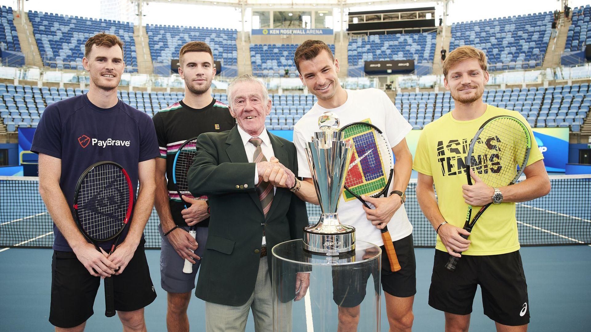 Звездите се събраха в Австралия, Григор си хареса трофея на ATP Cup