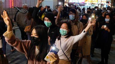 Протестиращите в Хонконг помрачиха празничното настроение