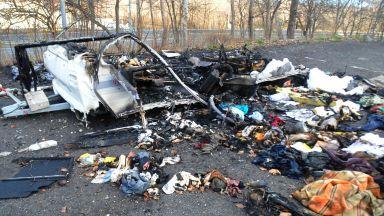 Бургазлия почина след пожар в караваната му
