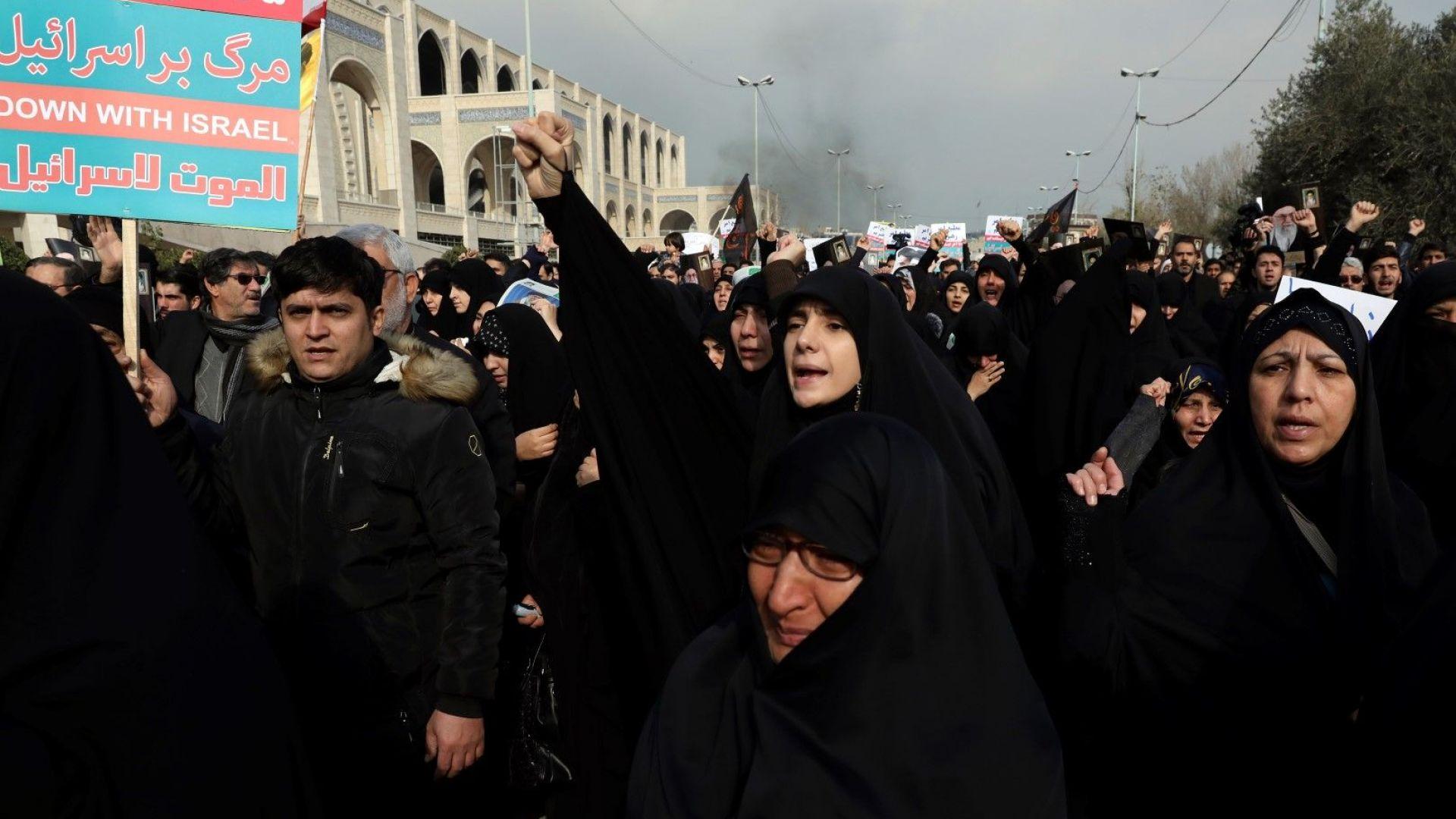 Протести заради смъртта на генерал Касем Сюлеймани