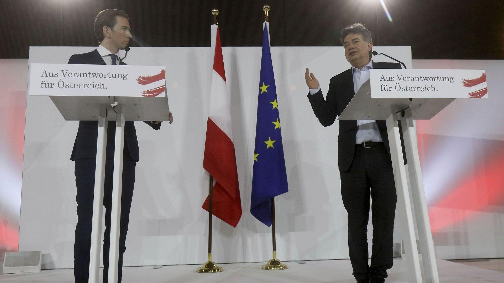 Потвърдиха окончателно зелено-консервативното правителство в Австрия