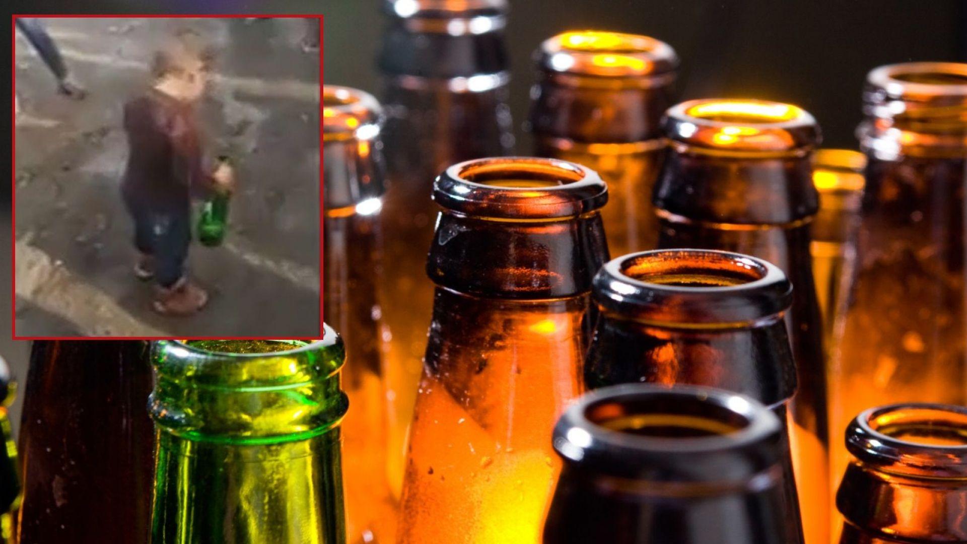 Невръстно дете с бирена бутилка в ръка: Пиян ли е Кевин? (видео)