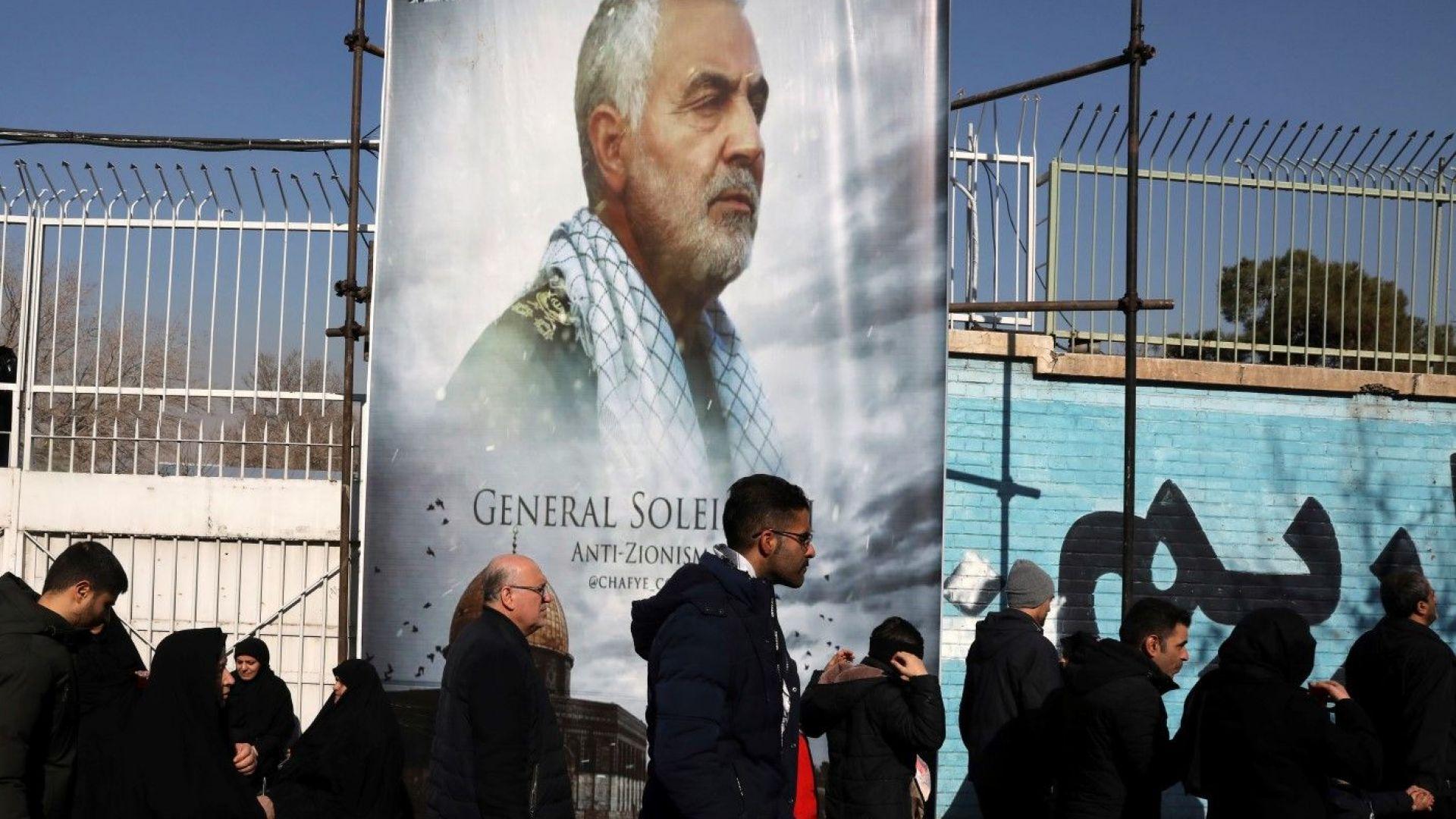 Иранският генерал Касем Солеймани, който беше убит в Багдад, е