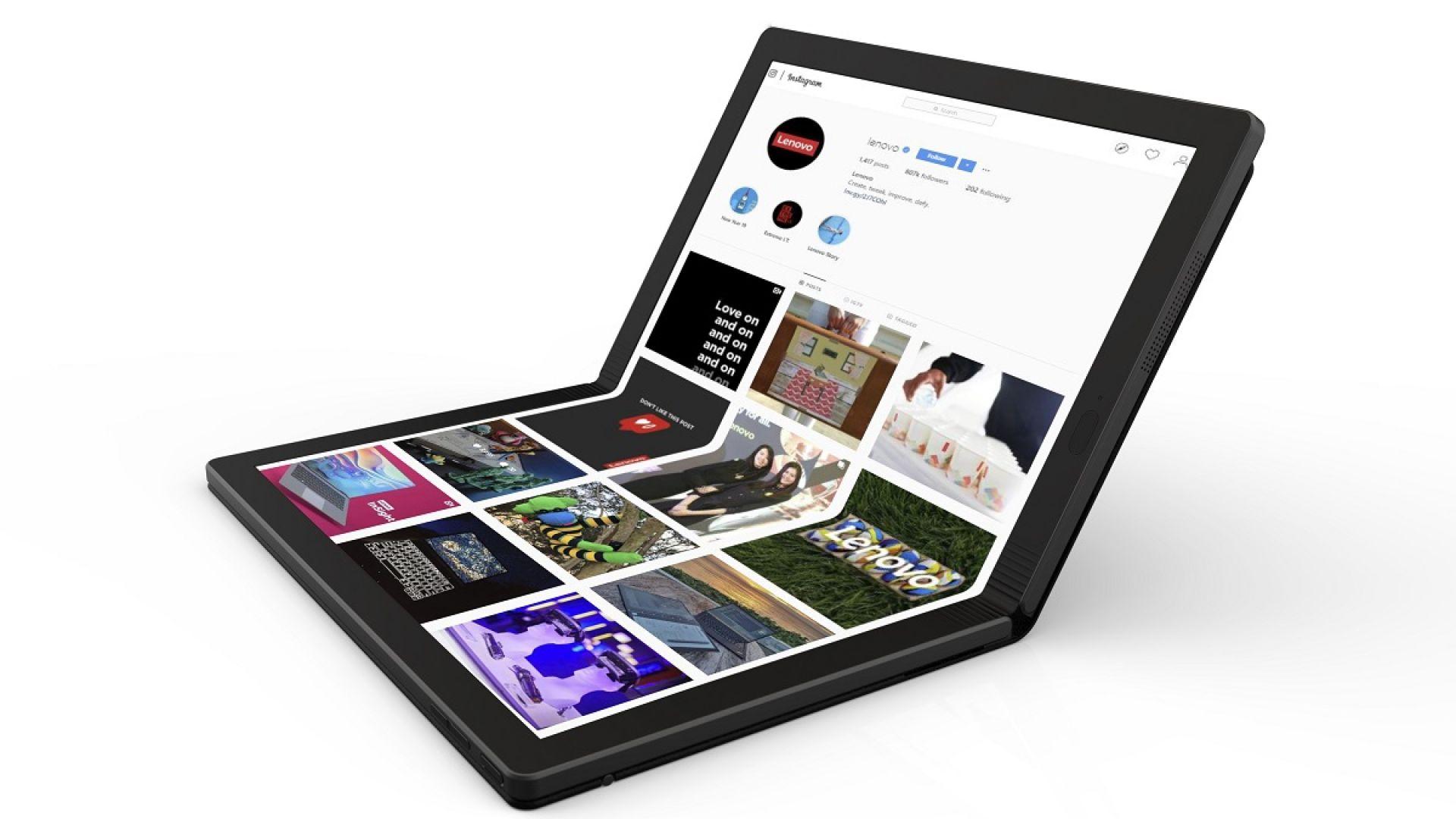 Lenovo стартира продажбите на лаптоп със сгъваем дисплей