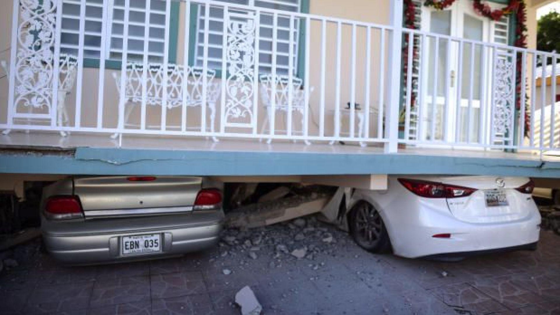 """""""Къща на колела"""" след нов трус от 6,5 по Рихтер край Пуерто Рико (снимка)"""