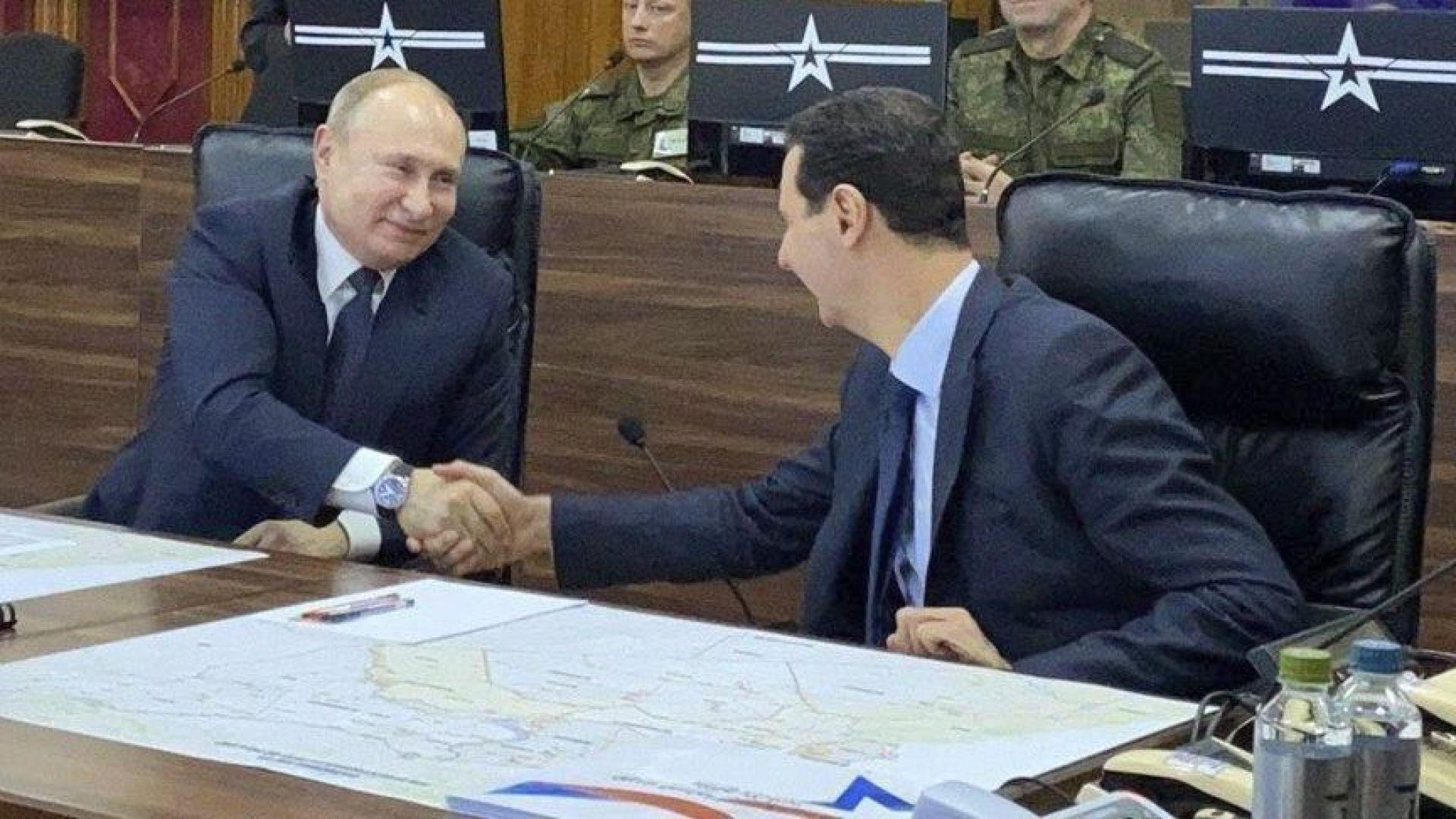 Путин пристигна в Сирия и се срещна с Асад