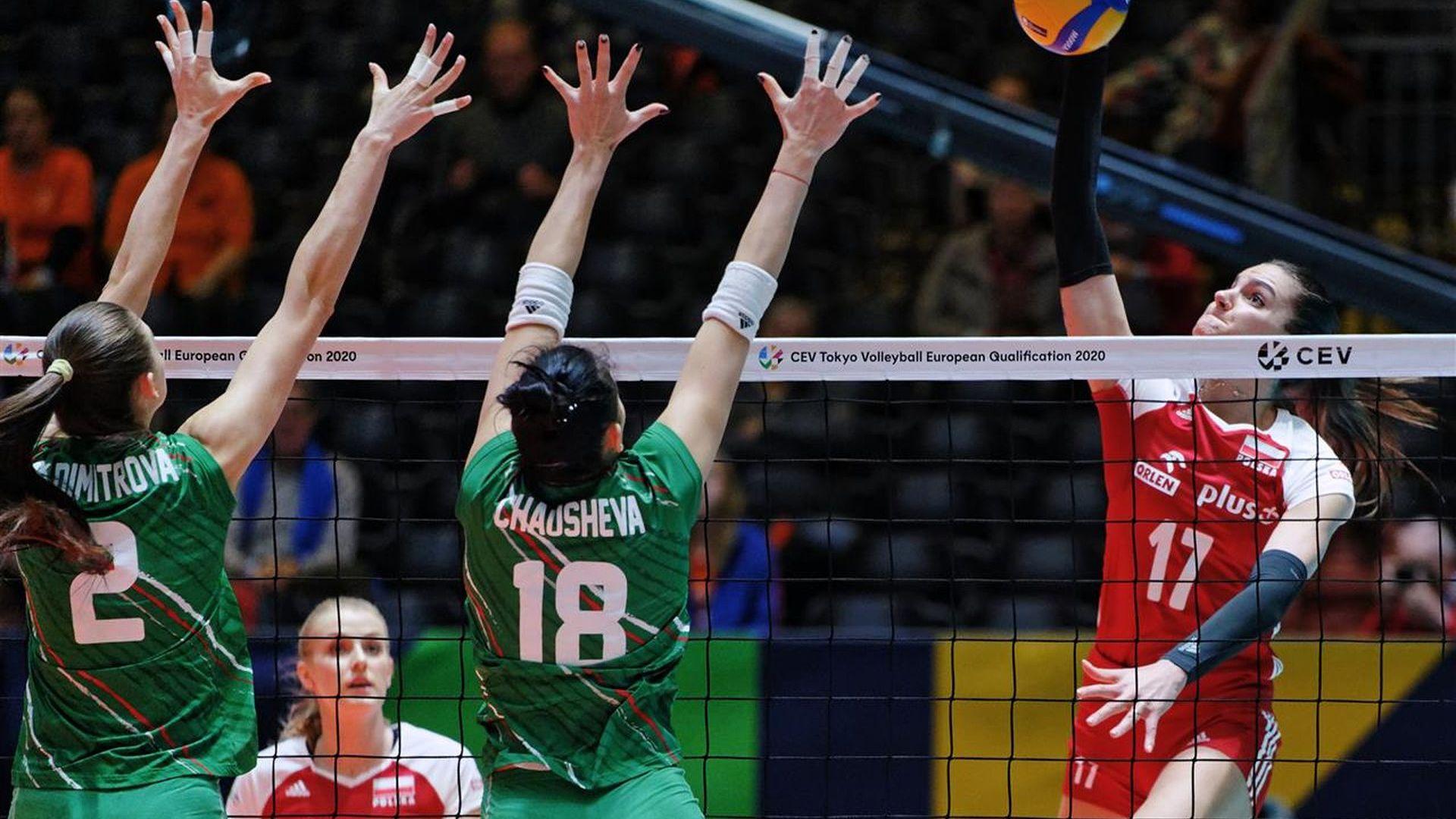 Волейболистките играха със сърце, но се блъснаха в полска стена