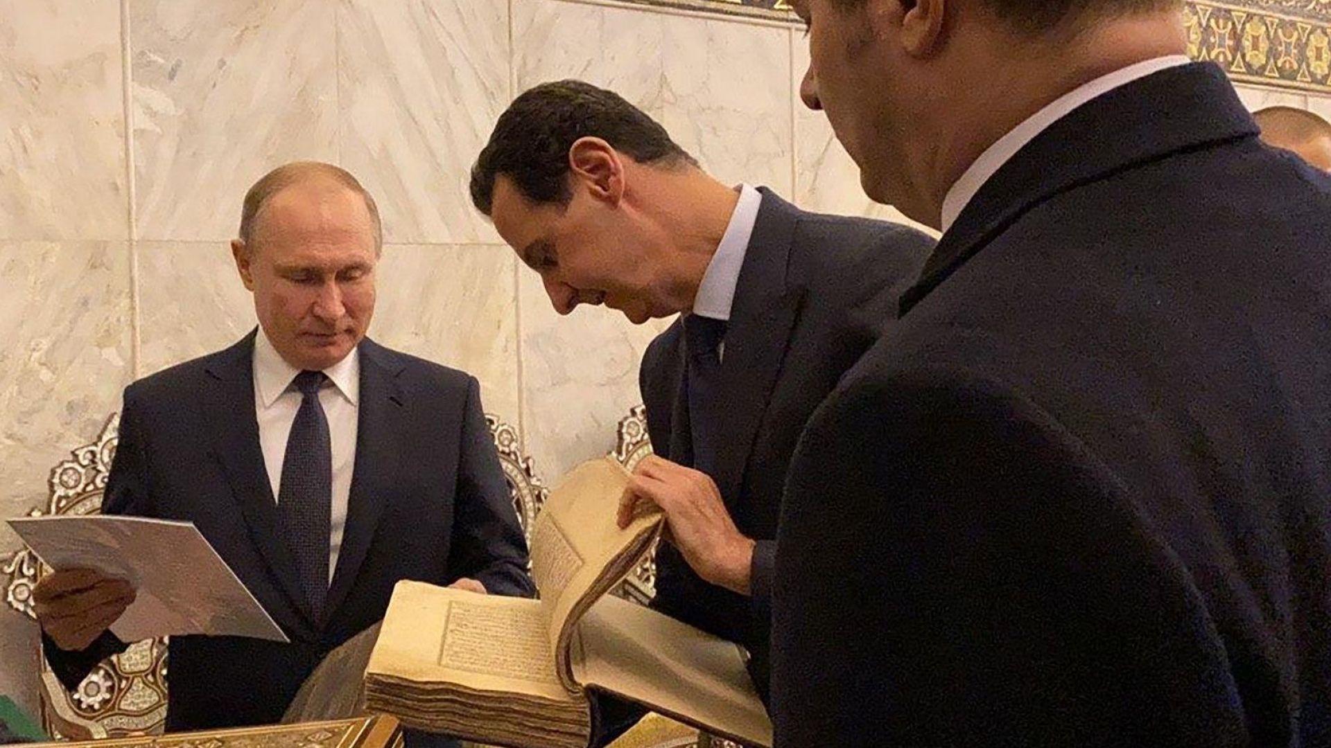 Руският президент Владимир Путин, който днес пристигна на посещение в
