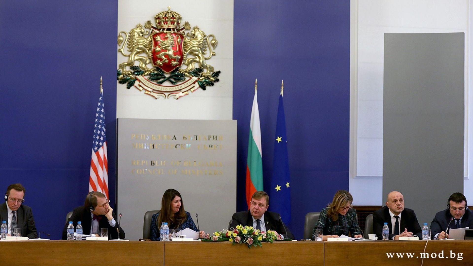 Каракачанов: България и САЩ имат готовност за конкретни действия в рамките на Стратегическия диалог