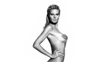 Красивият и чисто гол дух на Хайди Клум