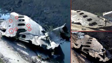Резултат с изображение за Камъни или шрапнели? Експерти анализират пробойни по корпуса на украинския Боинг