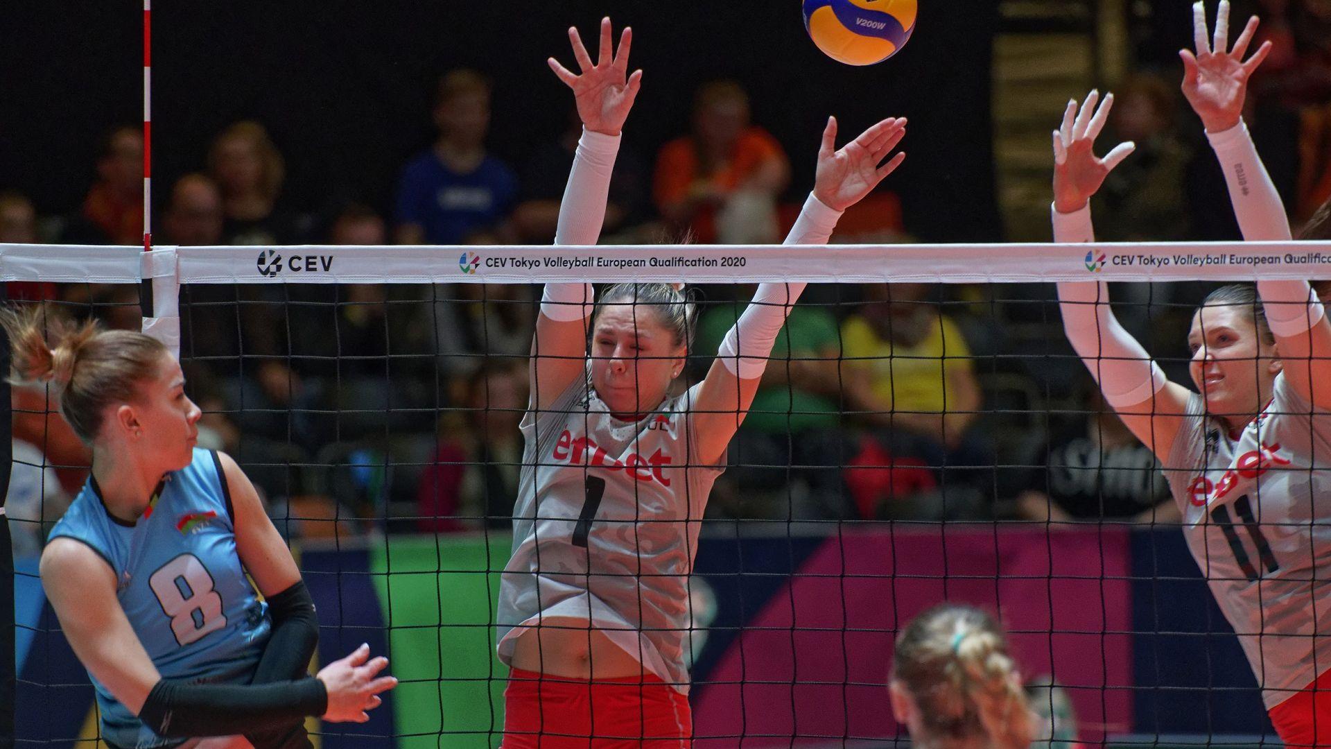 Волейболистките на България завършиха квалификациите с победа