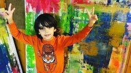 Седемгодишно дете продава свои картини за хиляди евро