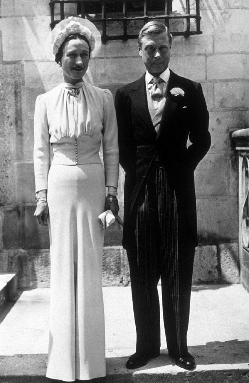 Уолис Симпсън и Едуард VIII на сватбата им, 3 юни 1937 г.