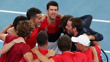Джокович прати Сърбия на финал след мач №1 на турнира
