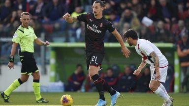 Златан отново е тук! Шведът вкара за първи успех на Милан от месец насам