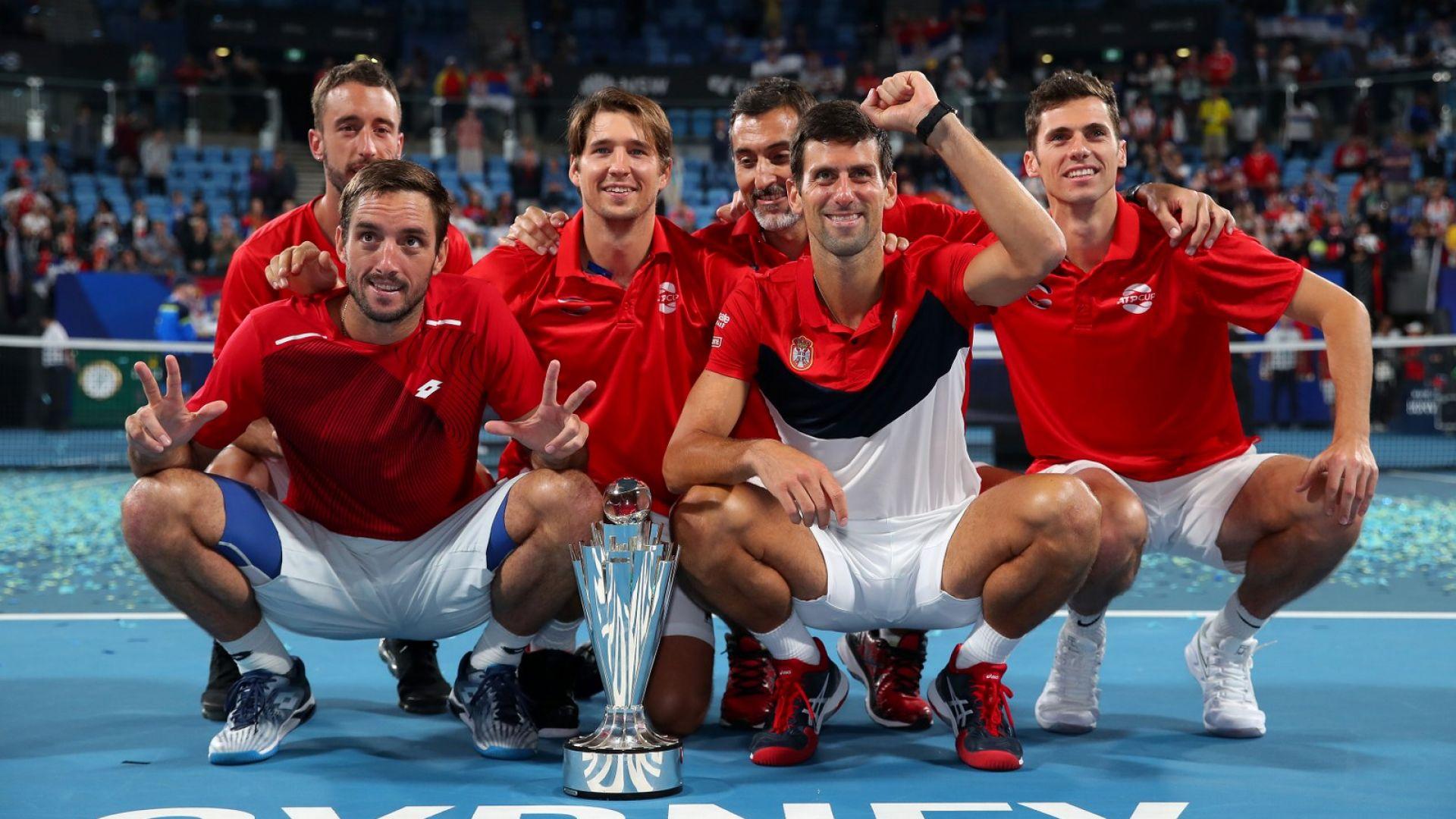 Голям Джокович засили Сърбия към световния връх в тениса