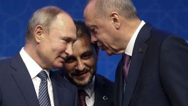 """Ердоган обеща на Путин християнските светини в """"Света София"""" да бъдат запазени"""