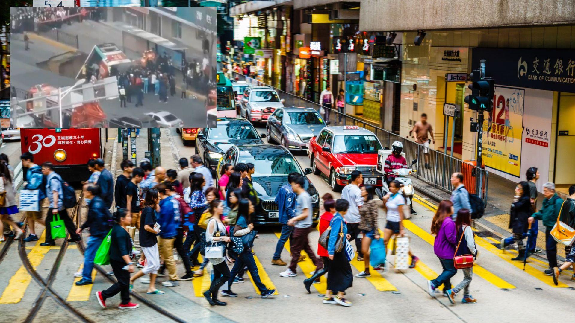 Автобус падна в огромна дупка в Китай, има загинали (видео)