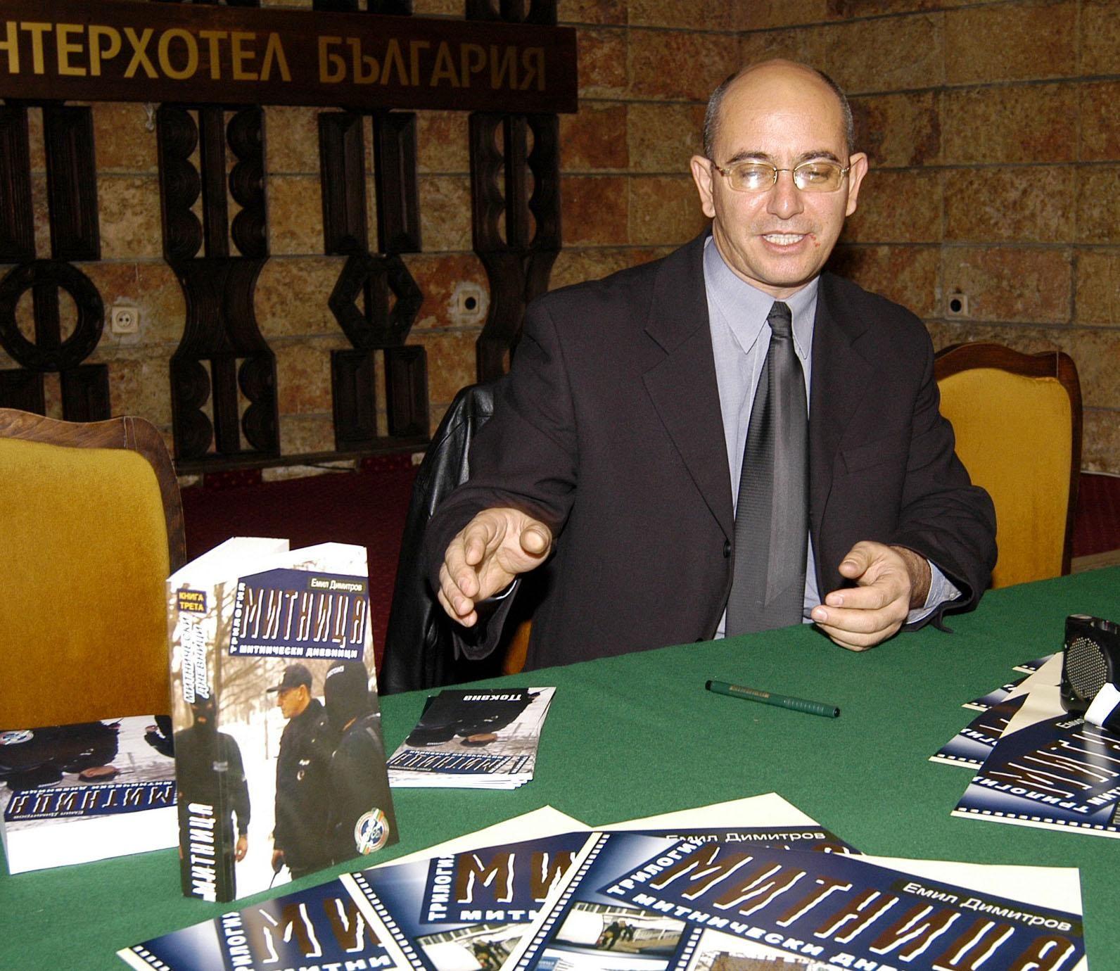 По време на представянето на книгата си в Бургас