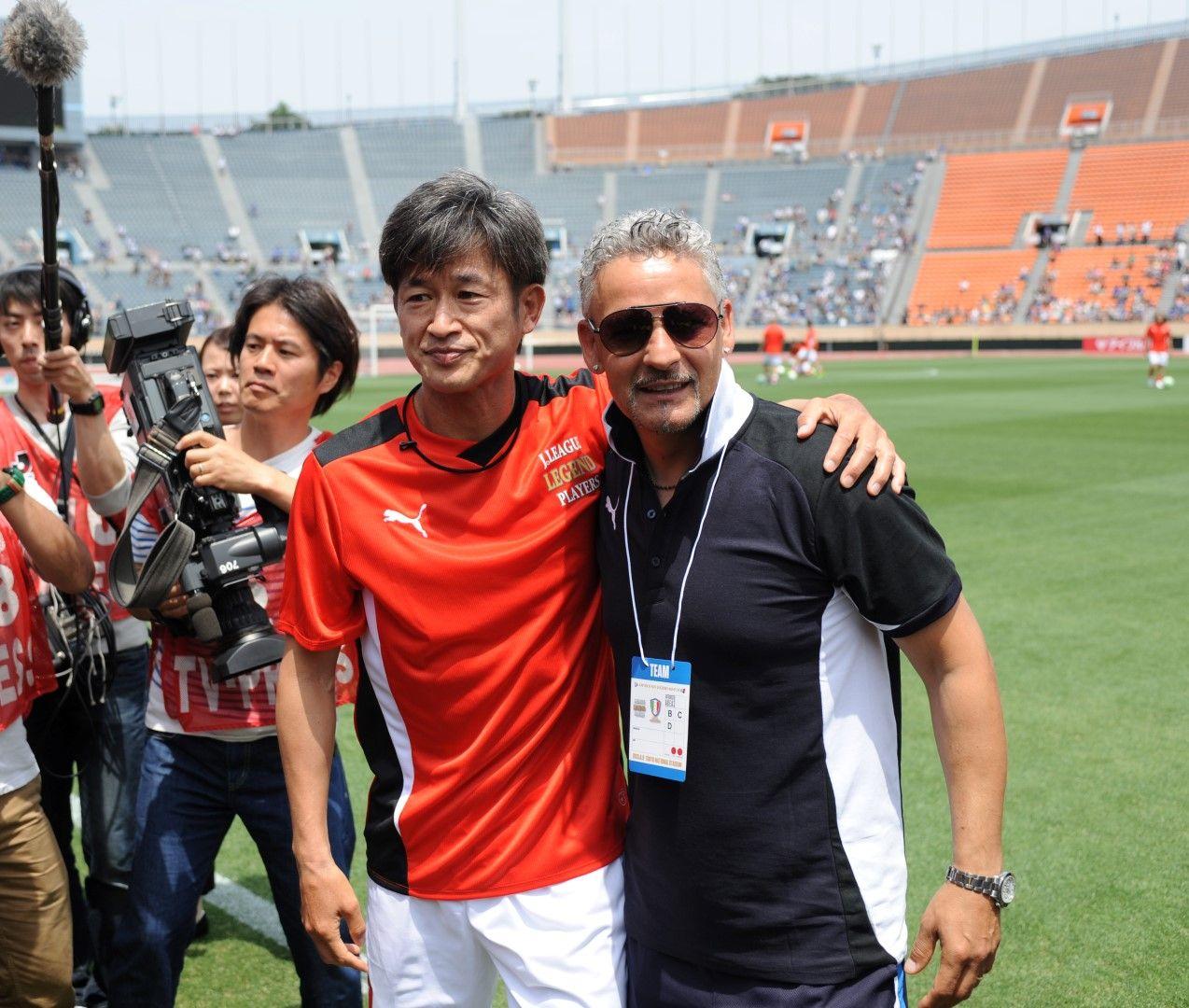 Миура и Роберто Баджо - двамата са приятели вече над две десетилетия