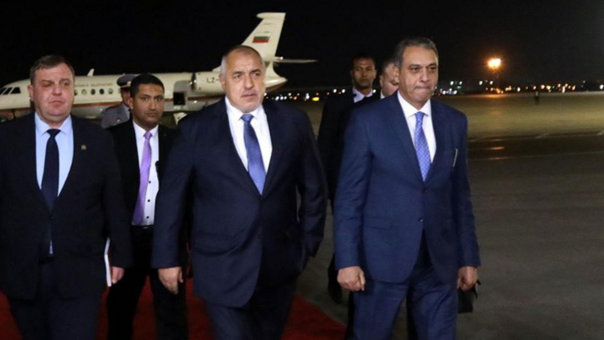 Министър-председателят Бойко Борисов пристигна в Египет, където утре по покана