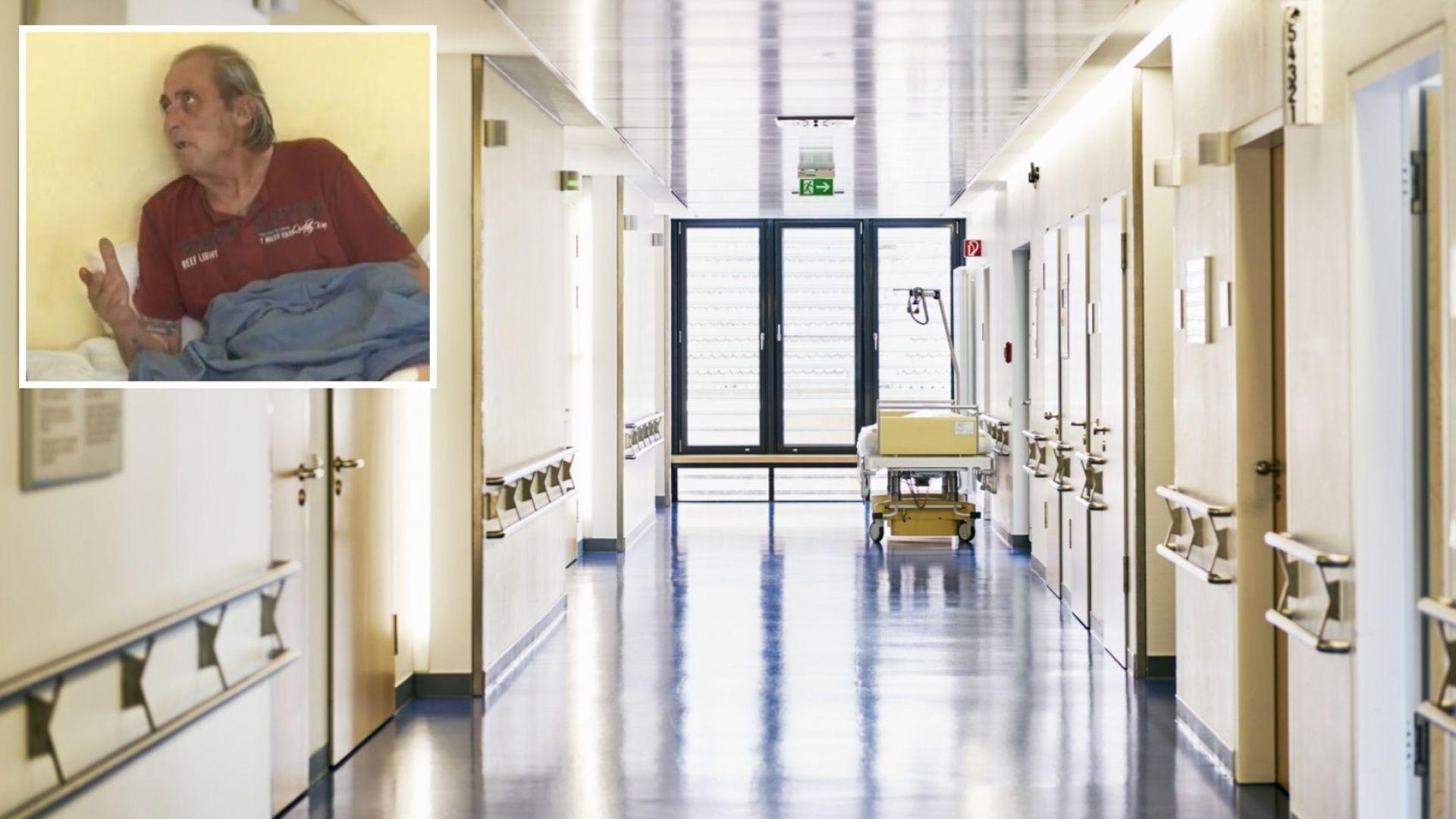 Мъж с ампутирани крака живее в болницата в Бургас - няма къде да отиде