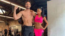 Като гръцки богове: Никол Шерцингер и Том Евънс ваят тела във фитнеса
