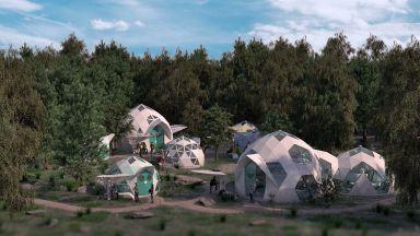 Къщички с геодезически куполи за бездомни - евтини и полезни за здравето