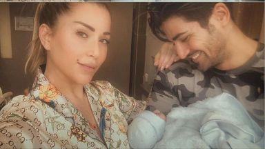 Енджи Касабие кръстила бебето на баща му. Показа снимка с момченцето си