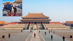 Богаташка разгневи Китай, карайки мерцедеса си в Забранения град