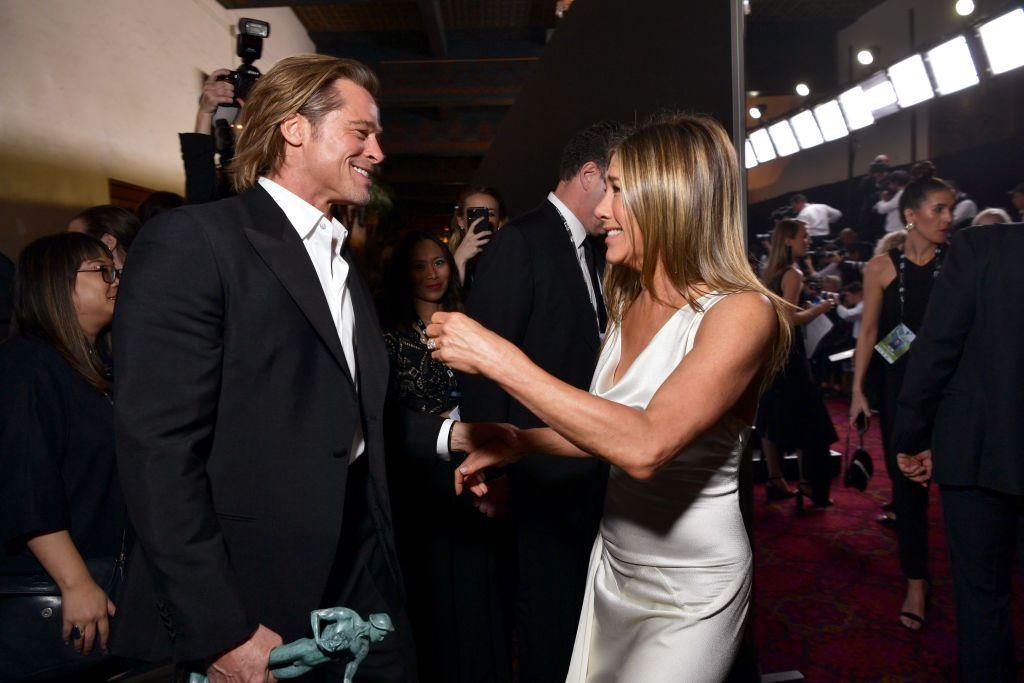 Брад Пит и Дженифър Анистън на наградите на Гилдията на филмовите актьори