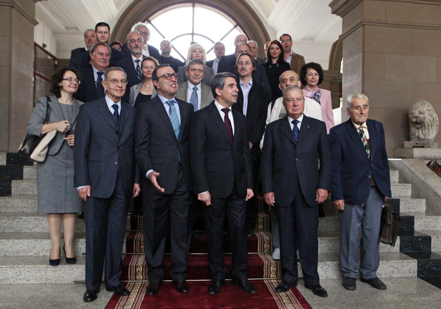 Акад. Сендов в Президентството през 2014 г.