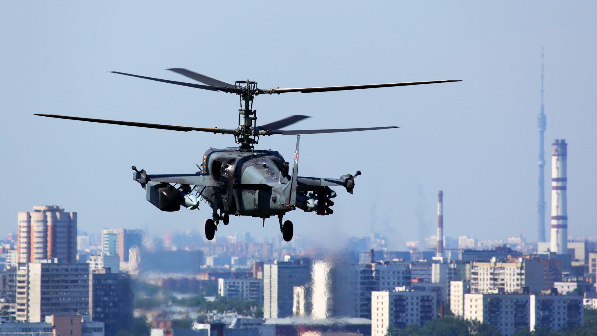 Хеликоптерът Ка-52