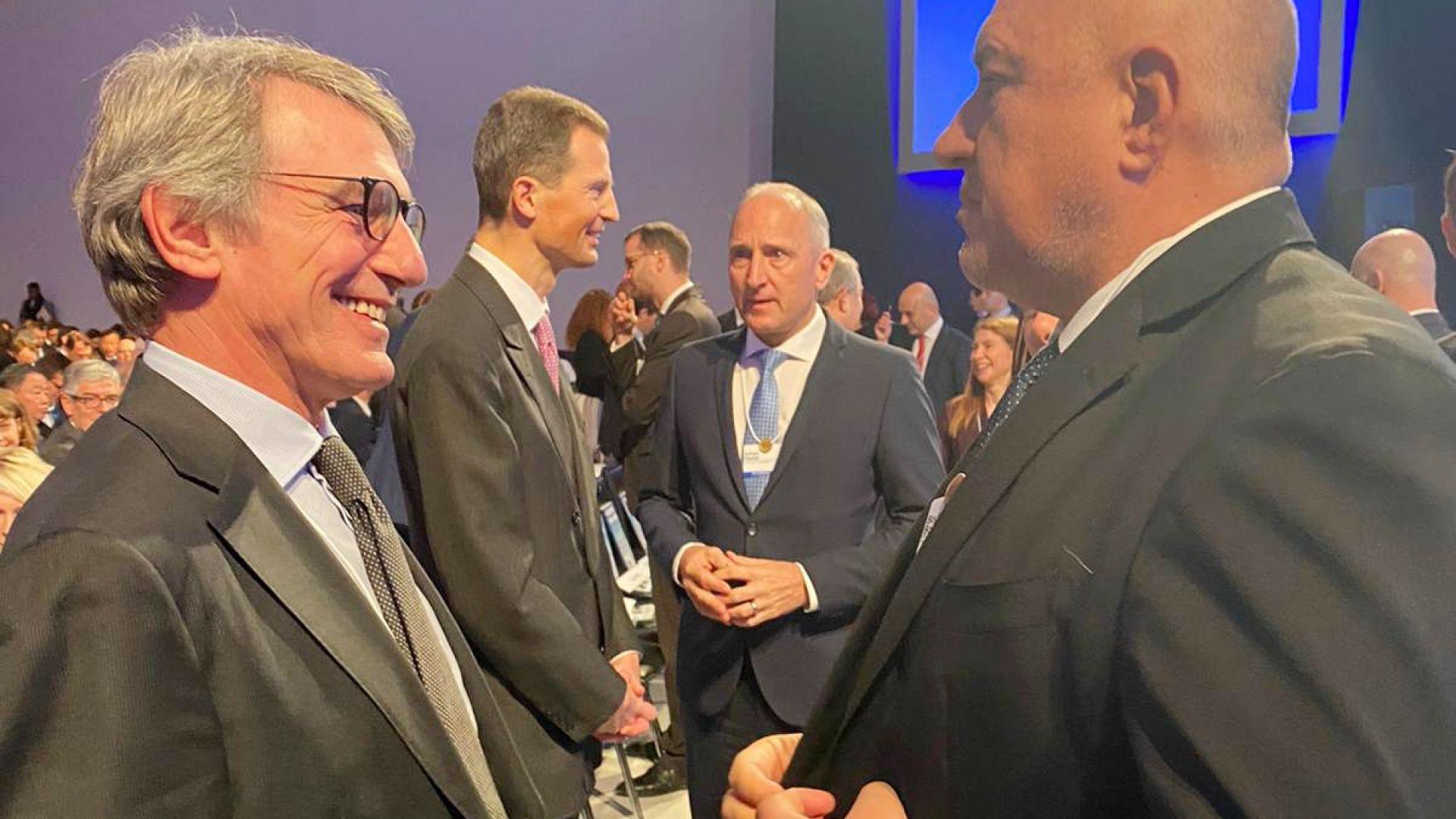 С председателя на Европейския парламент Давид Сасоли