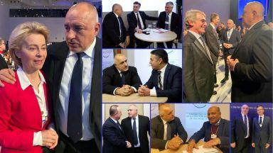 Срещите на Борисов в Давос: Фон дер Лайен, Сасоли и лидери от Балканите