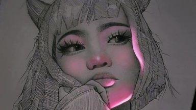 Рисунки с молив, които тайнствено флуоресцират
