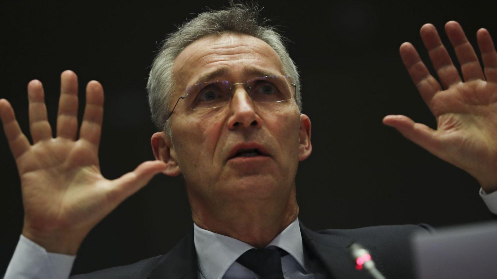 Генералният секретар на НАТО Йенс Столтенберг изрази днес готовност пактът
