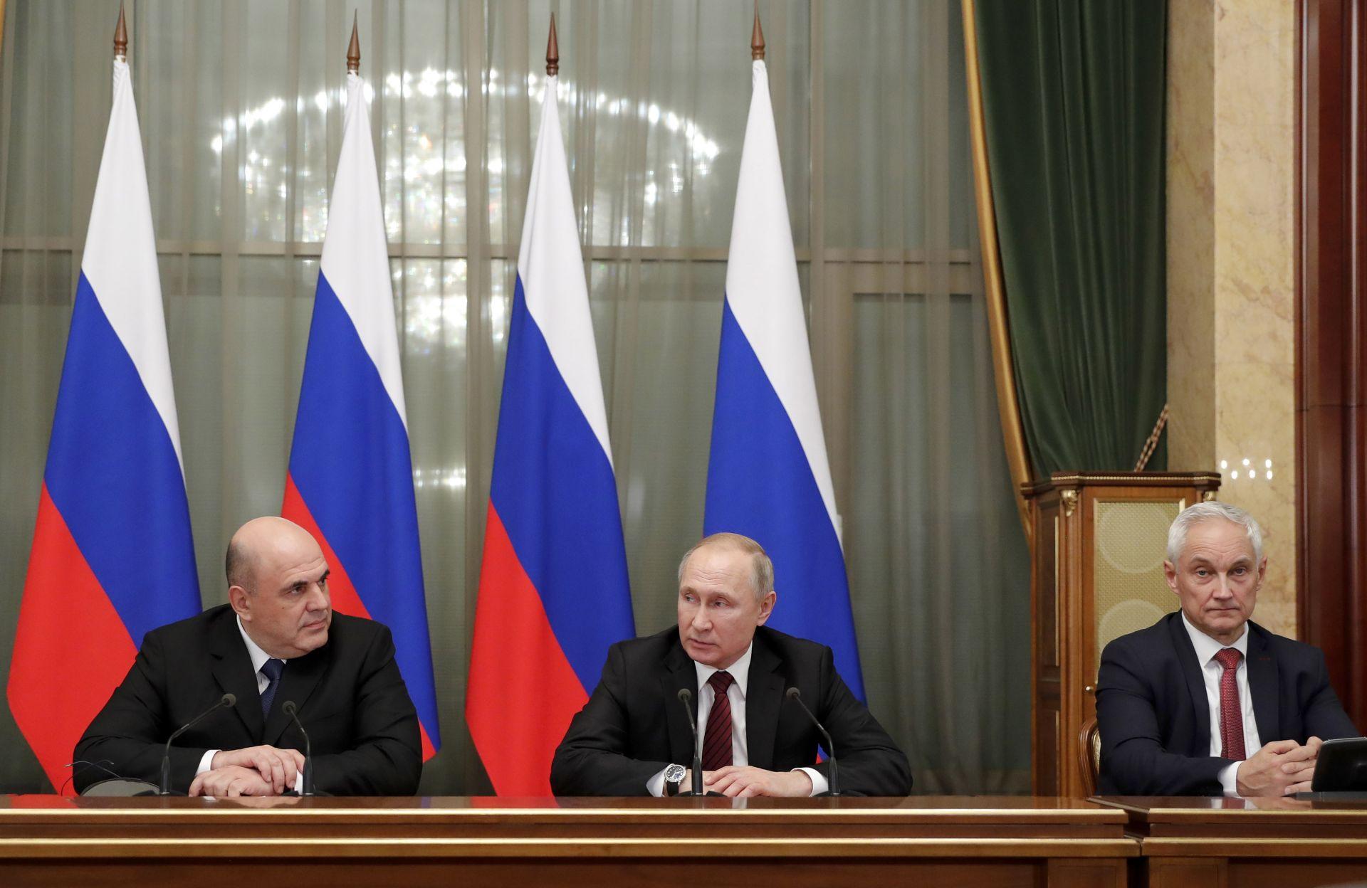 Михаил Мишустин, Владимир Путин, Андрей Белоусов