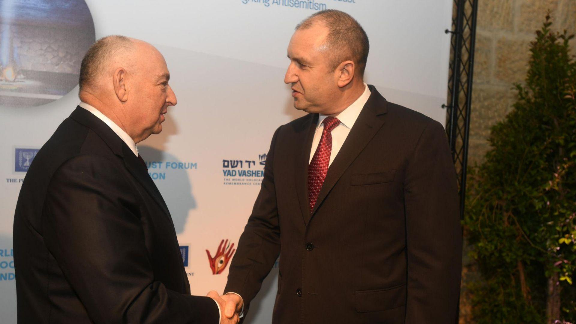 Радев в Израел: Не допуснахме нито един български евреин да бъде изпратен в концлагер