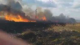 Втори пожар в защитена местност за по-малко от 24 часа (видео)