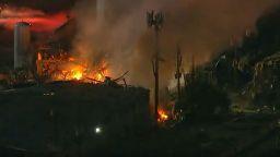Промишлена експлозия разтърси Хюстън (видео)