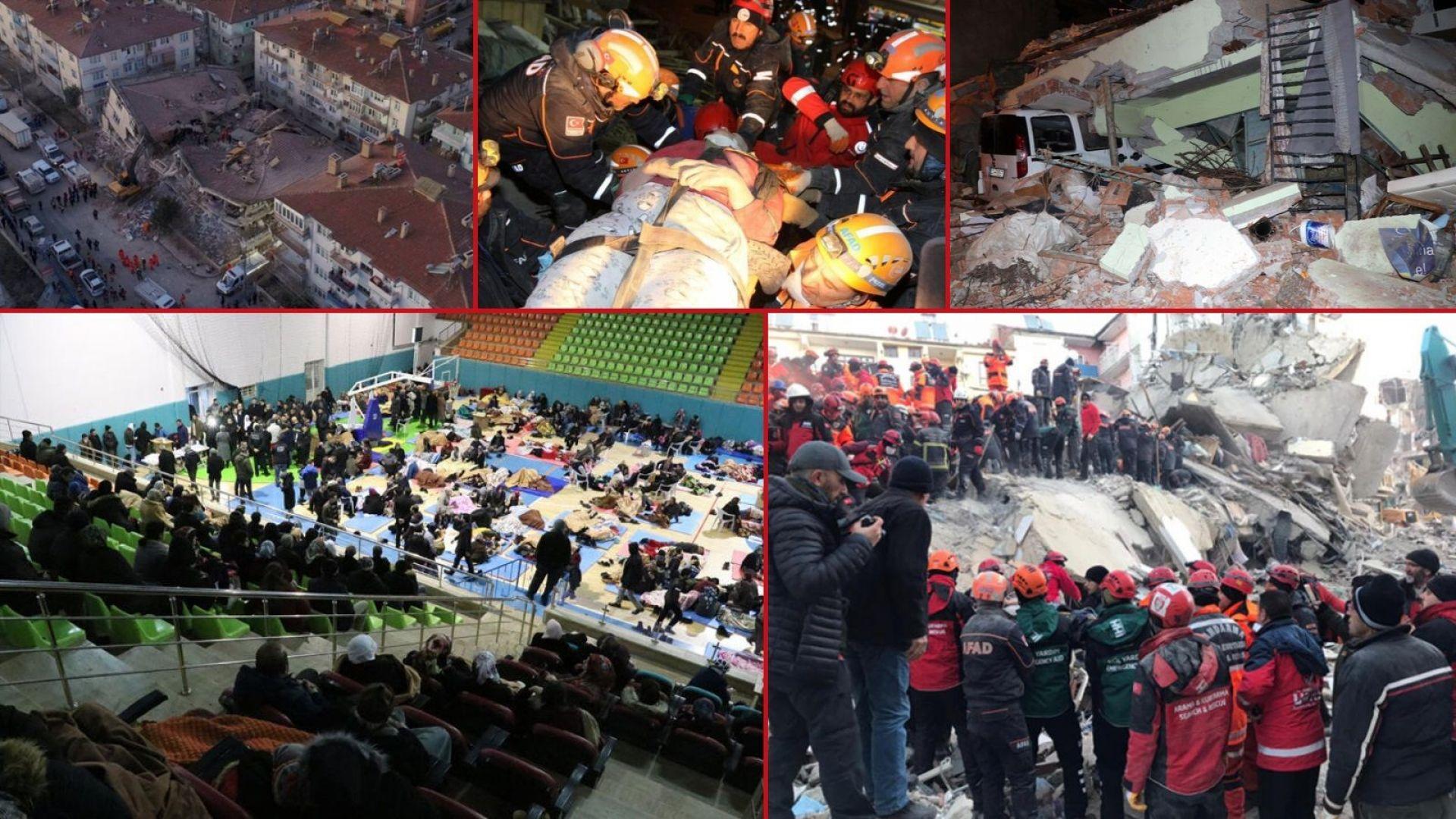 Кадри от момента на земетресението: Загиналите в Турция вече са над 20 (видео/снимки)