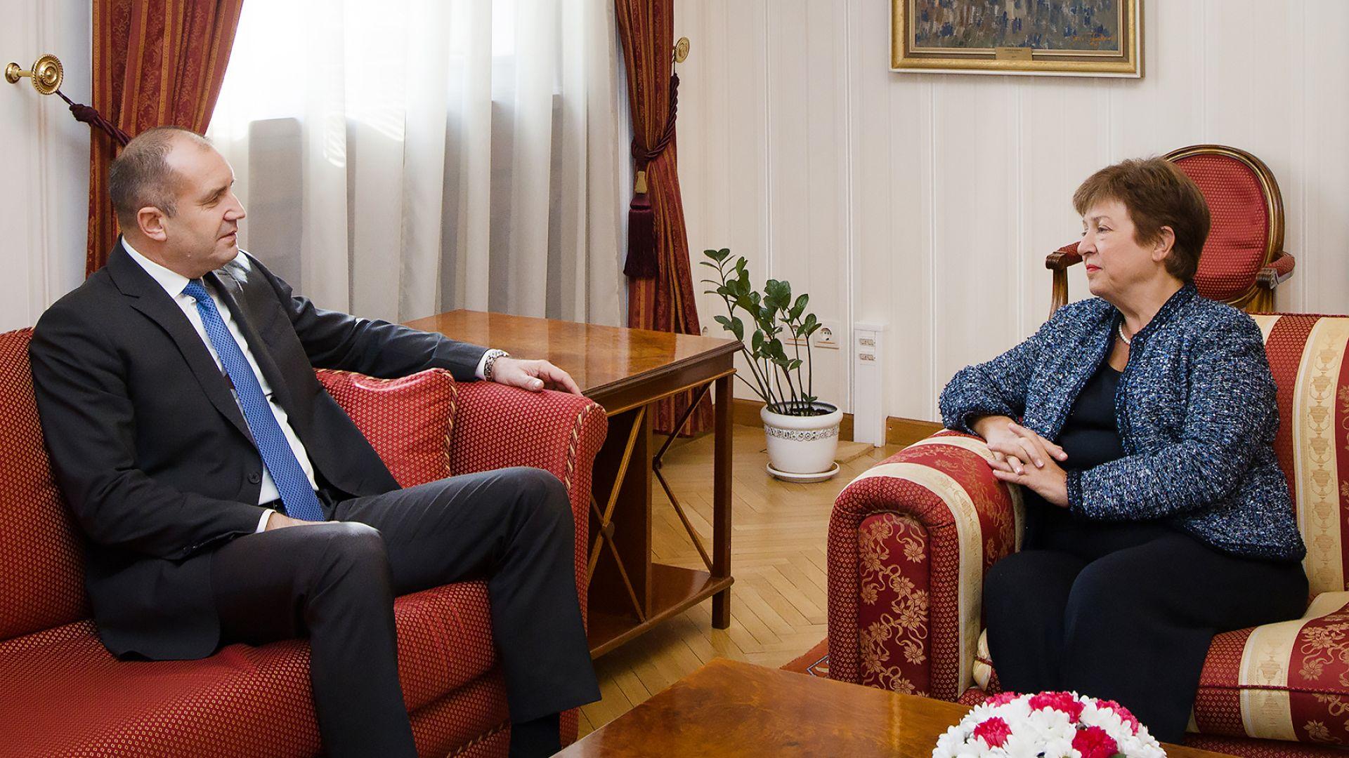 Президентът Румен Радев се срещна днес на