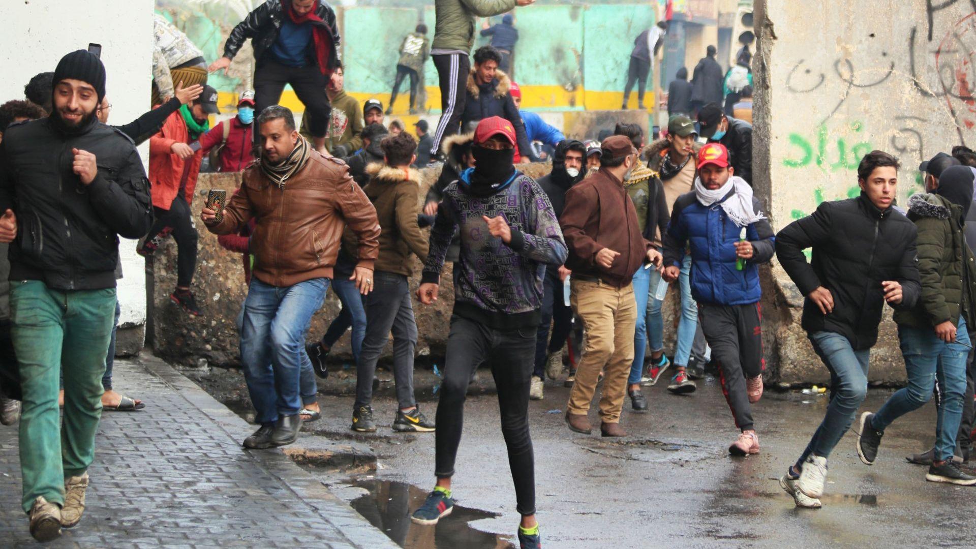 Най-малко осем души бяха ранени днес, след като иракските сили