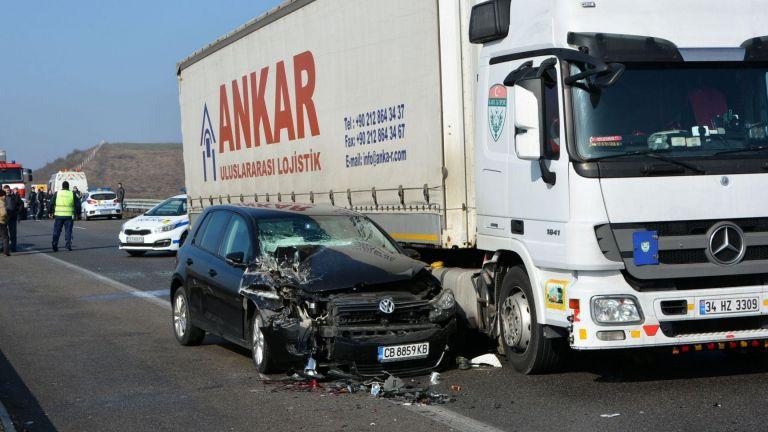 "Верижна катастрофа на АМ ""Марица"" край Свиленград обърка трафика"