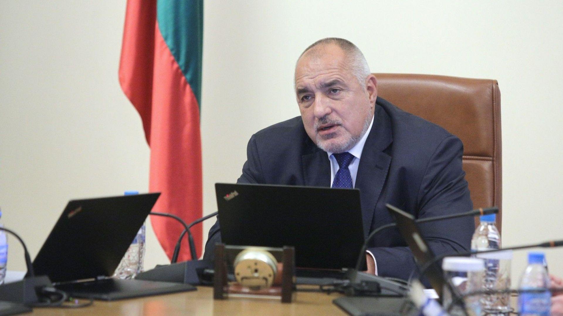 Премиерът Бойко Борисов с изказване пред МС за вота